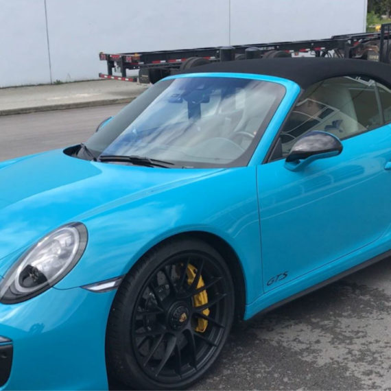 7 porsche gts blue ceramic coating