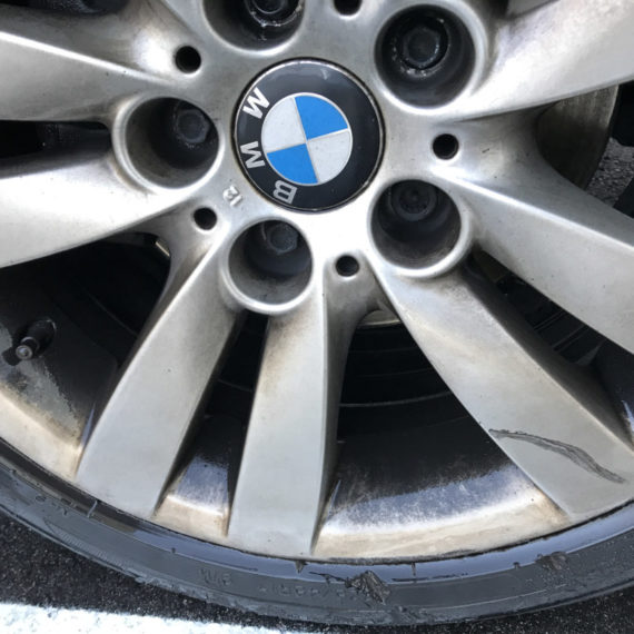 Dirty BMW wheels