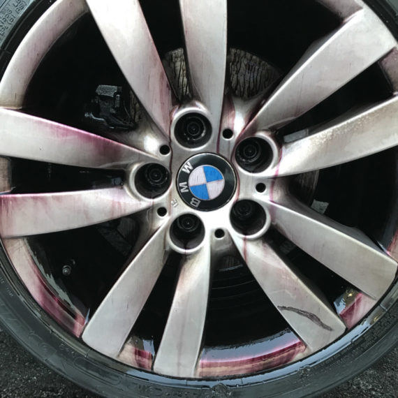 Ferrex applied to BMW wheels