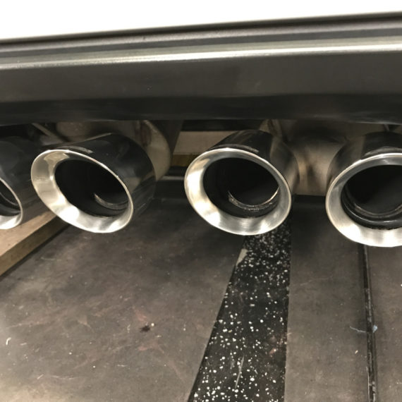 Corvette tailpipes after detailing