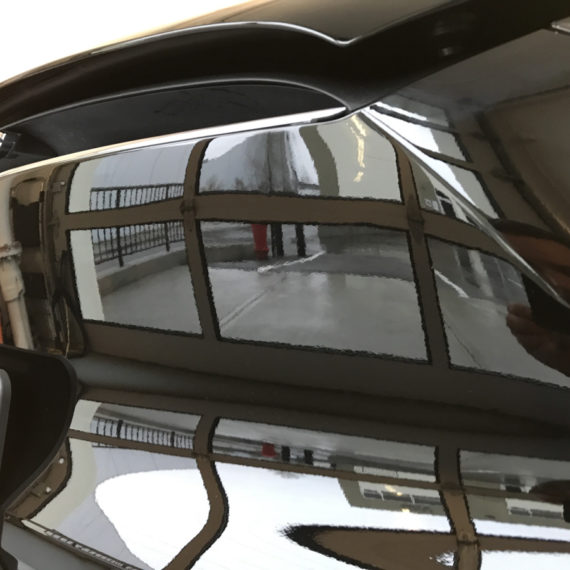 Opti Coat on Tesla Model X: reflections on gloss finish