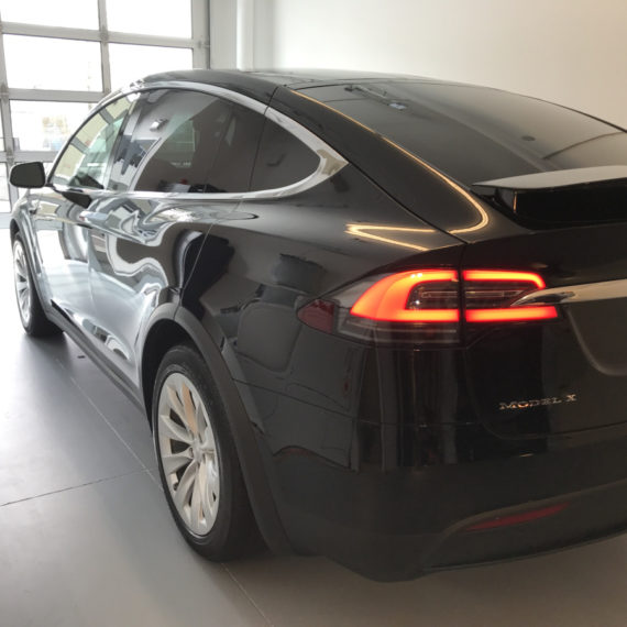 Opti Coat on Tesla Model X: trunk and left side