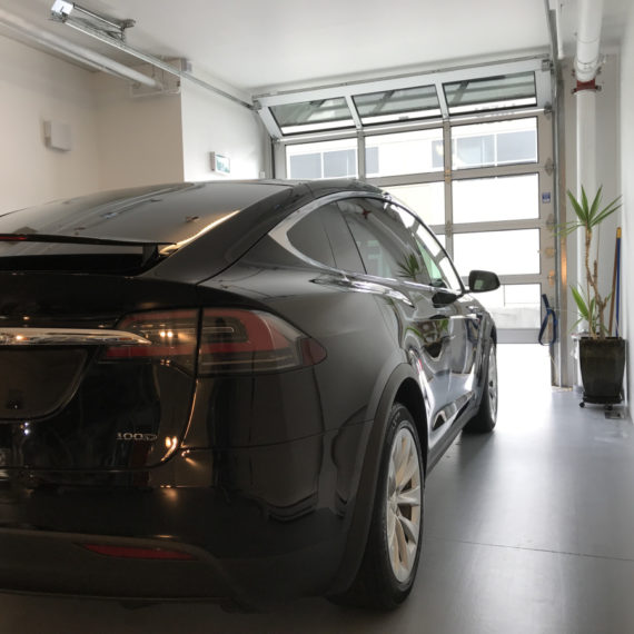 Opti Coat on Tesla Model X: trunk and right side