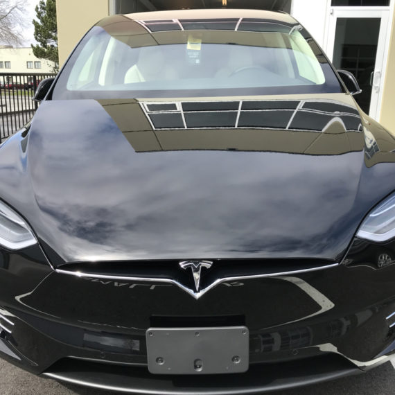 Opti Coat on Tesla Model X: View from hood