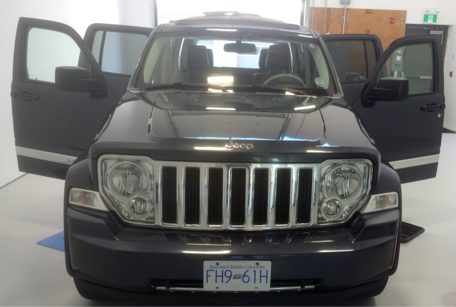 Jeep Liberty after detailing