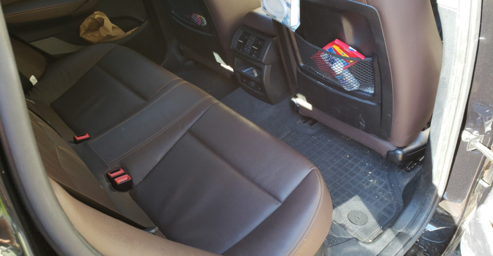 Interior back before mobile detailing