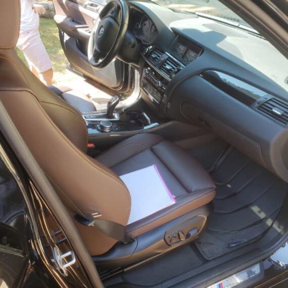 Front interior after mobile detailing