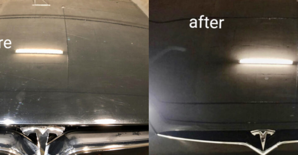 3 month old Tesla with marring, swirl marks and other scratching