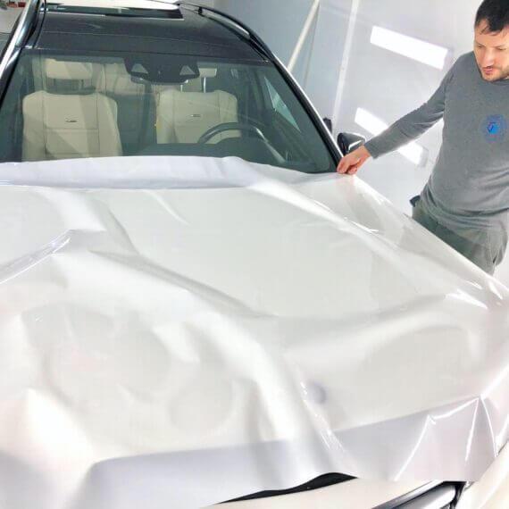 Paint Protection Film preparation for Mercedes E63