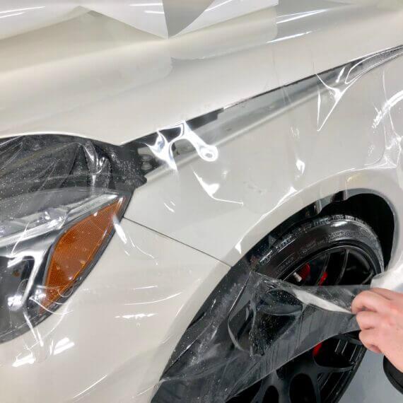 Paint Protection Film instalaltion on hood - Mercedes E63