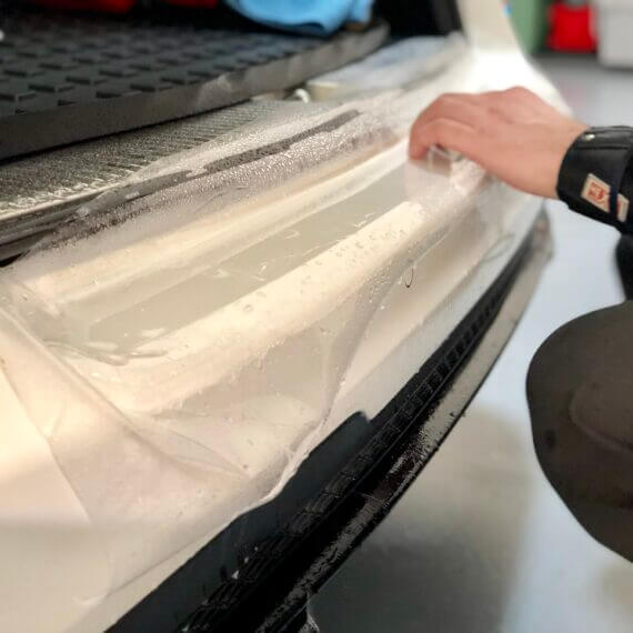 Paint Protection Film installation on Mercedes E63