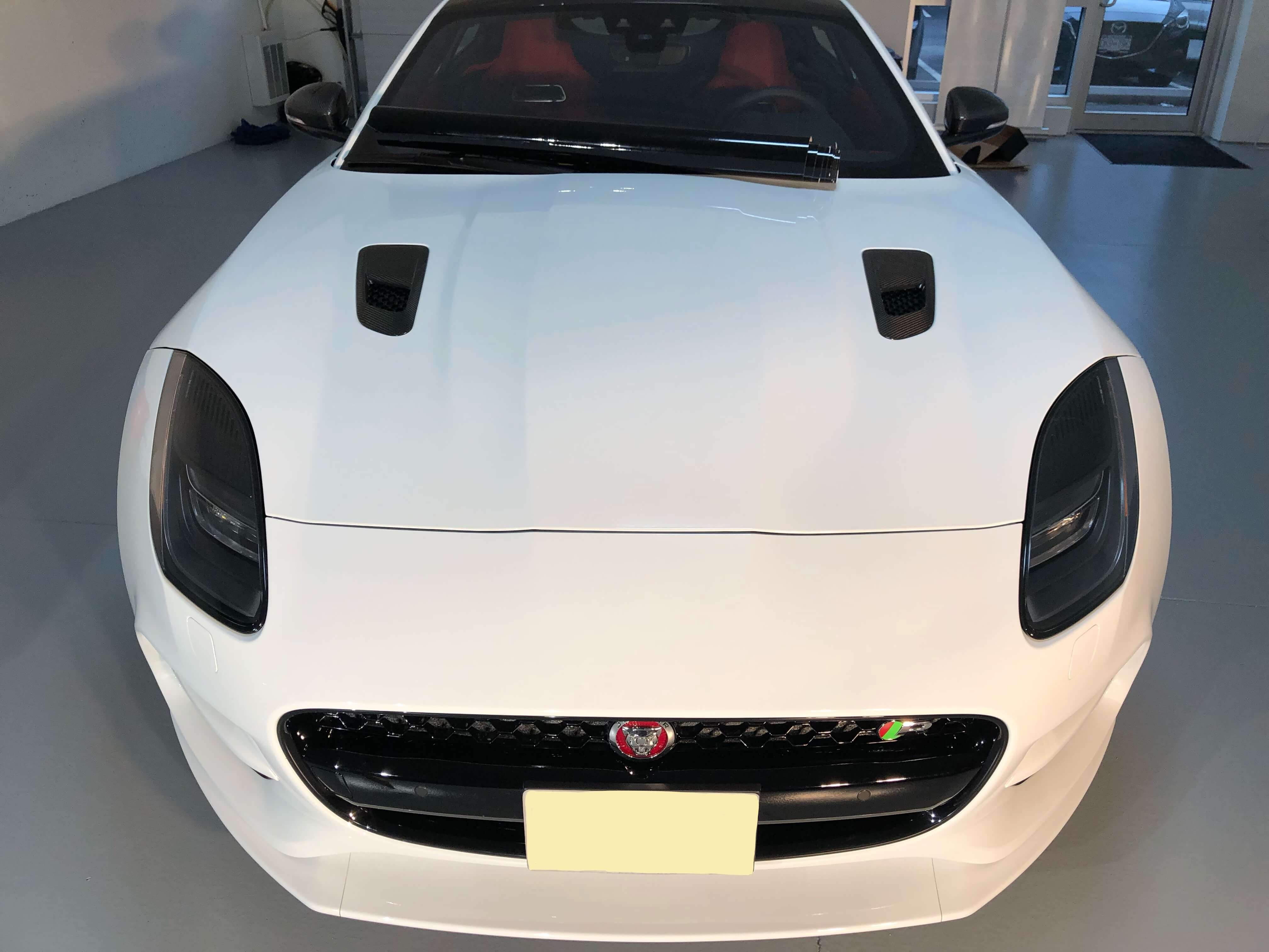 Jaguar with paint protection film applied by Gleamworks Detailing in Vancouver
