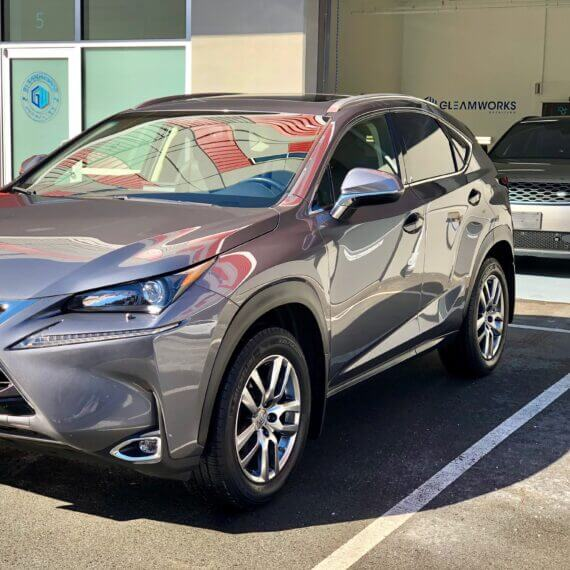 Lexus NX200 coated with Opti-Coat Ceramic Coating by Gleamworks Detailing in Vancouver, BC.