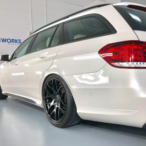 mercedes e63 ceramic coating gleamworks left side