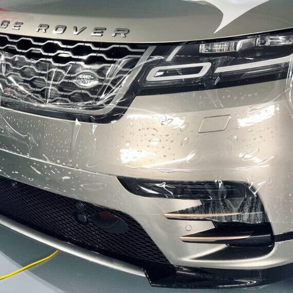 Paint Protection Film on front bumper installation Range Rover 2