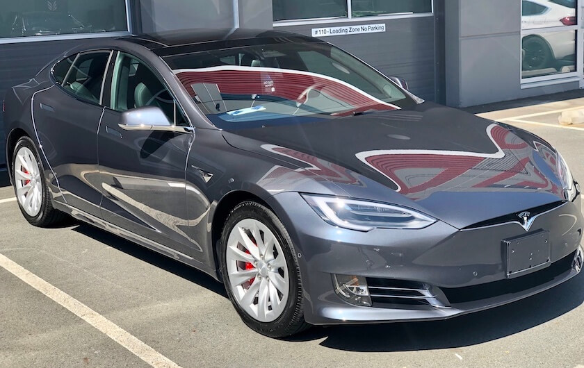 Tesla with applied ceramic coating