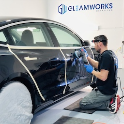 Gleamworks prepare car for ceramic coating